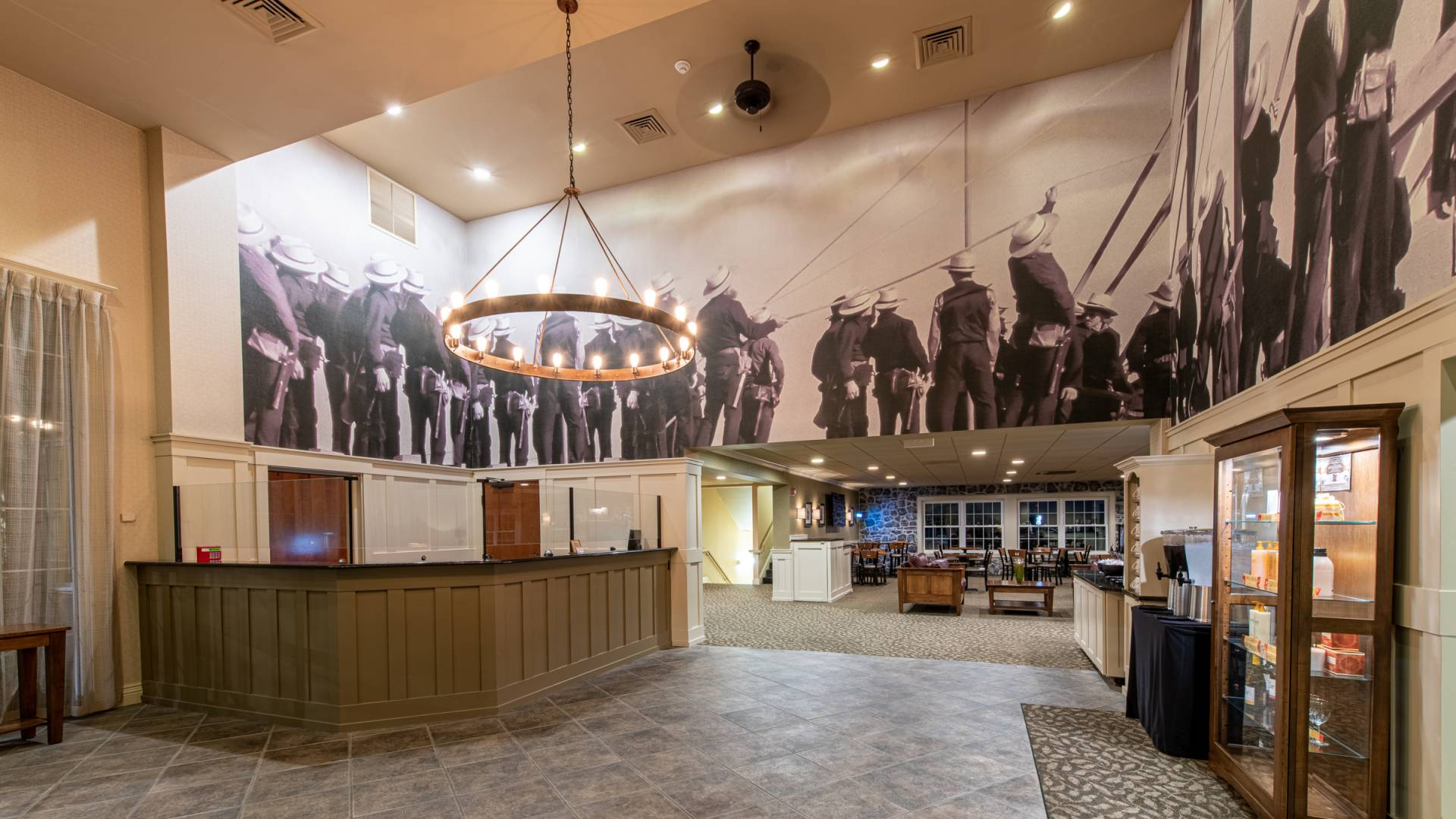 Lobby at AmishView Inn & Suites