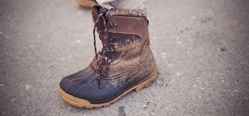 muddy boot for Lancaster County mud sales