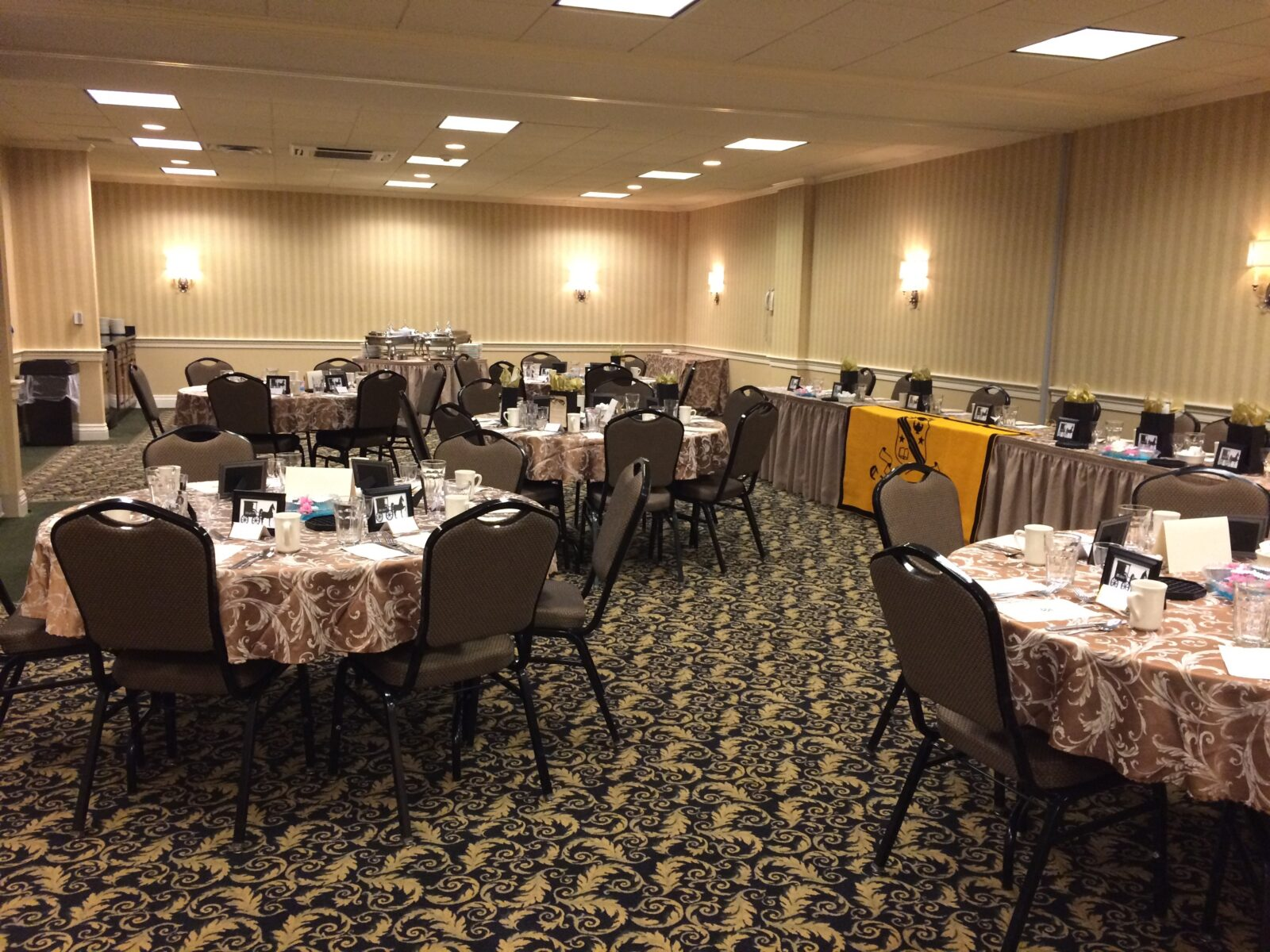 business event room space with tables setup for a banquet at AmishView Inn & Suites