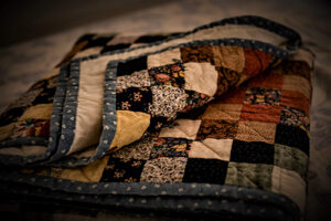Amish quilt for mud sales in Lancaster County