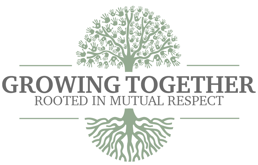 growing together rooted in mutual respect logo