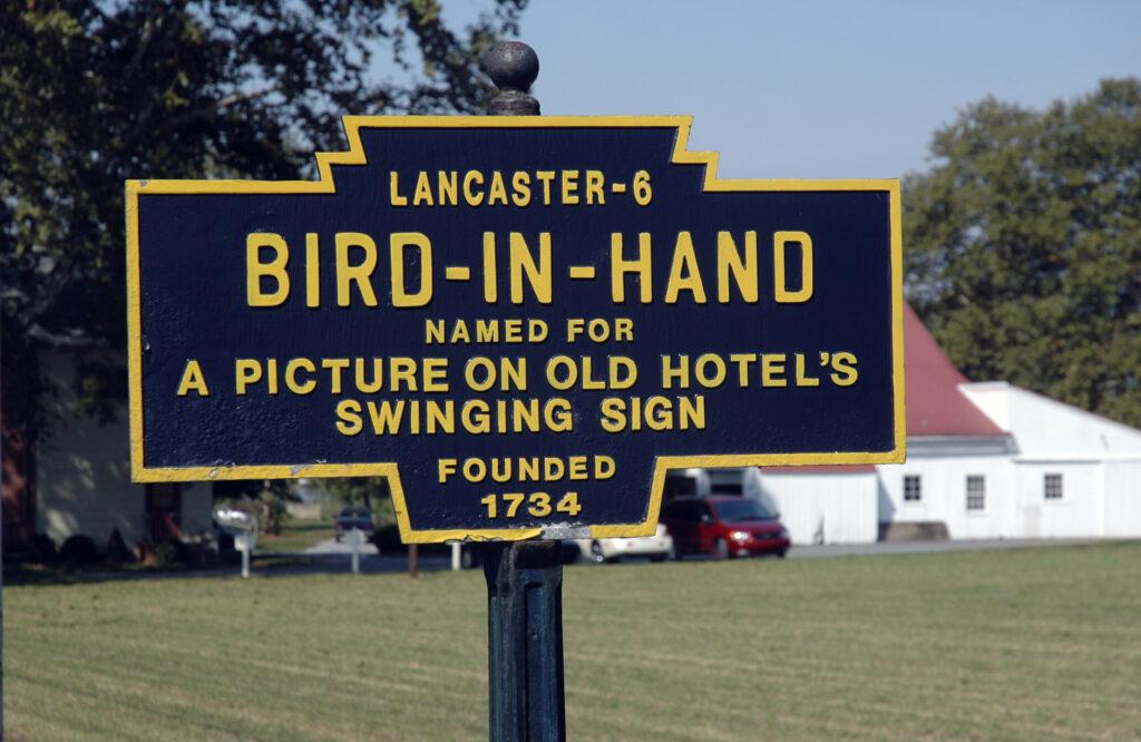 Bird-In-Hand road sign